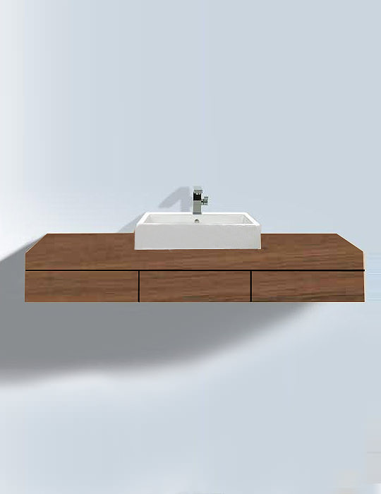 duravit fogo american walnut 550 x 1500mm console with drawers. Black Bedroom Furniture Sets. Home Design Ideas
