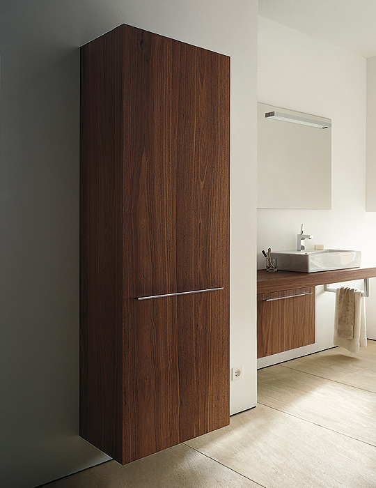 Duravit Fogo American Walnut Finish 500mm Tall Cabinet
