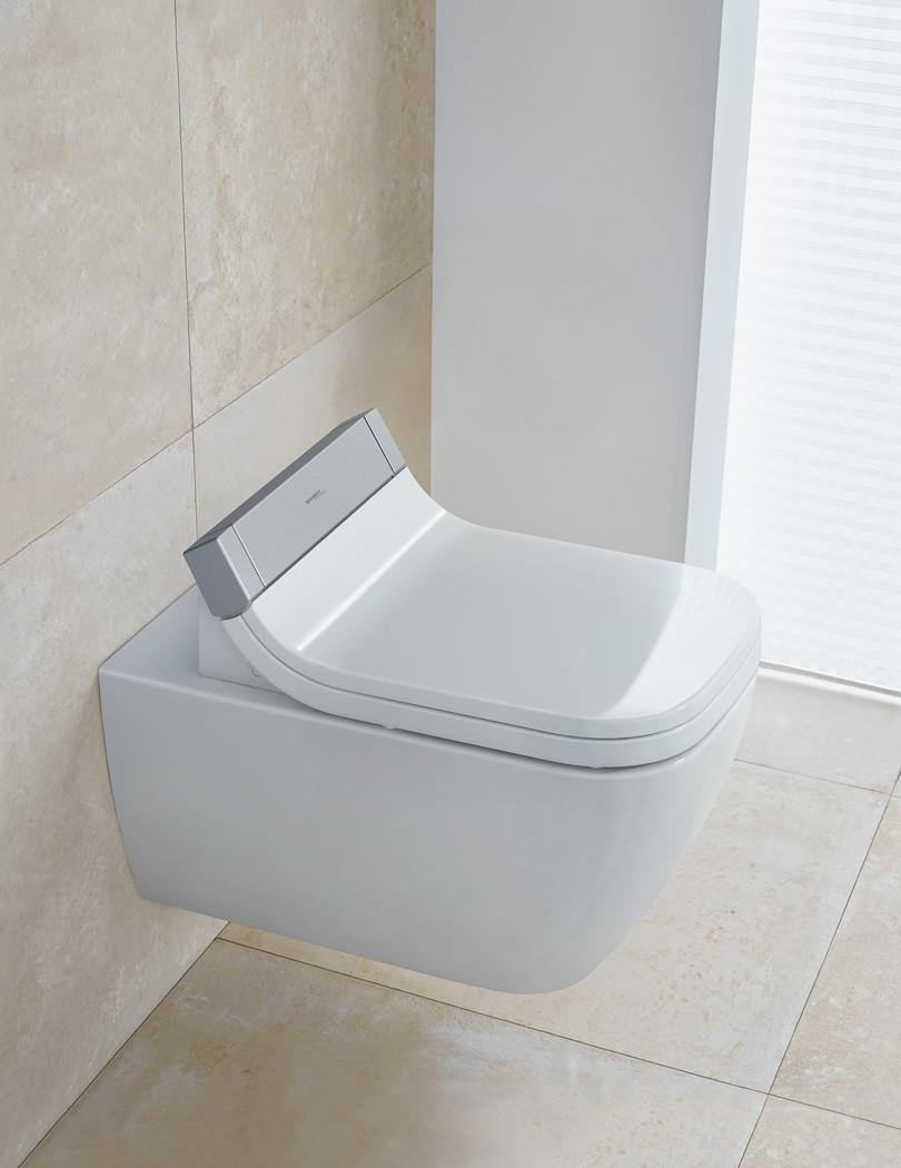 Duravit Sensowash d2 wall mounted toilet with sensowash seat