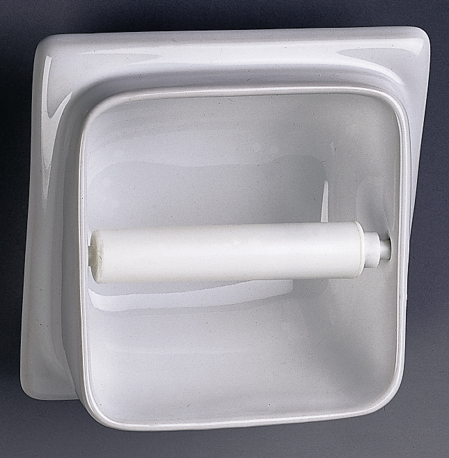 Twyford built in semi recessed toilet roll holder - Ceramic recessed toilet roll holder ...