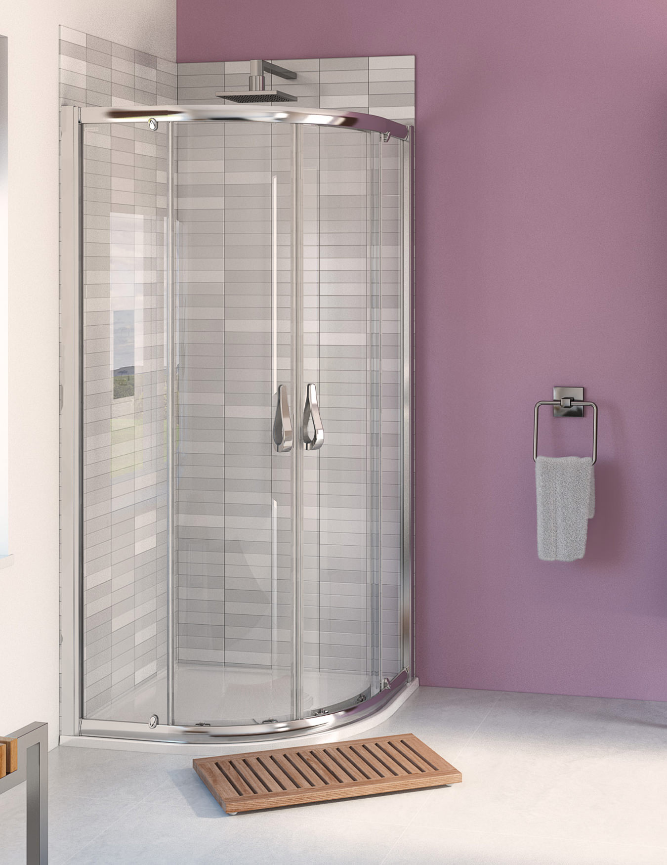 Aqualux Aqua 6 Showers | Aqua 6 Quadrants | Shower Doors | Bath Screens