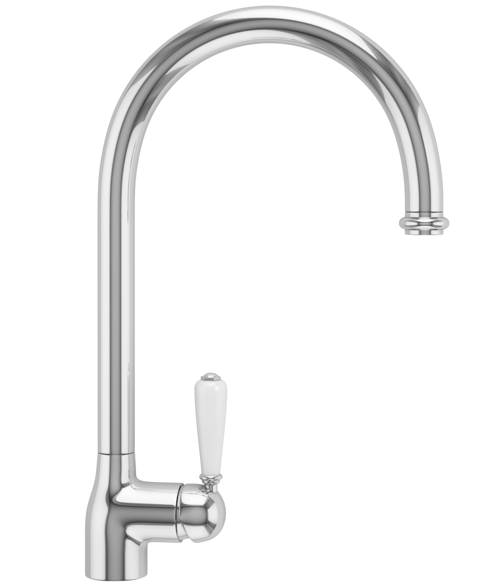 White Kitchen Mixer Tap belfast pull-out nozzle chrome kitchen sink mixer tap