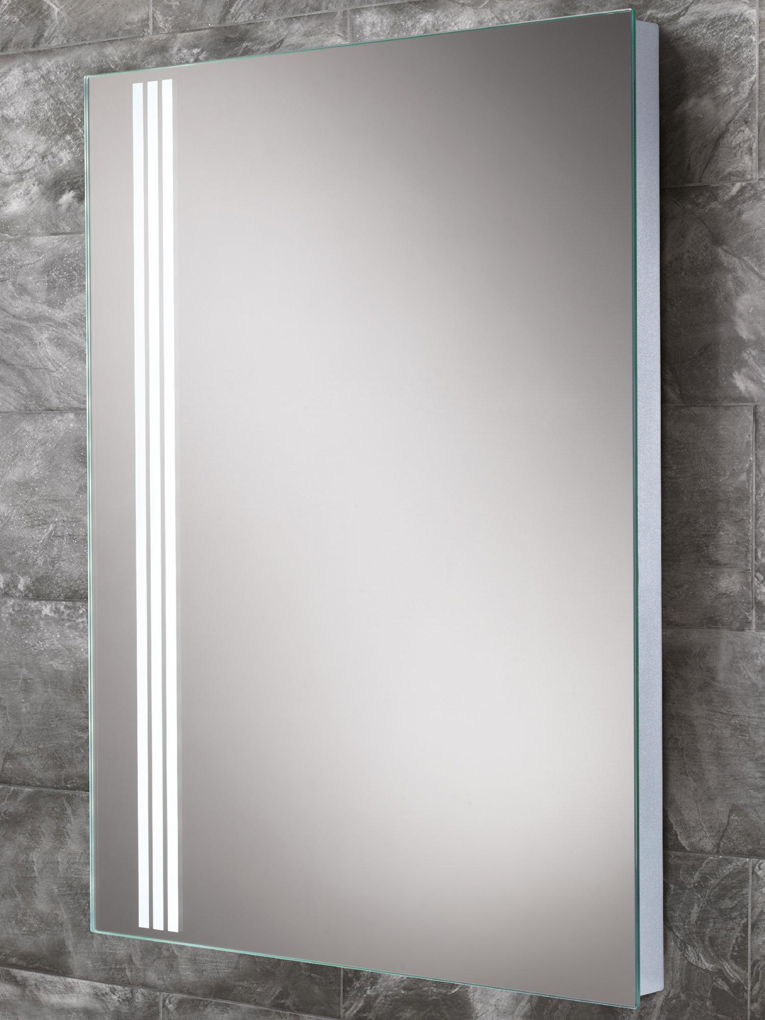 Hib amber steam free led back lit bathroom mirror 700 x 500mm for Mirror 700 x 700