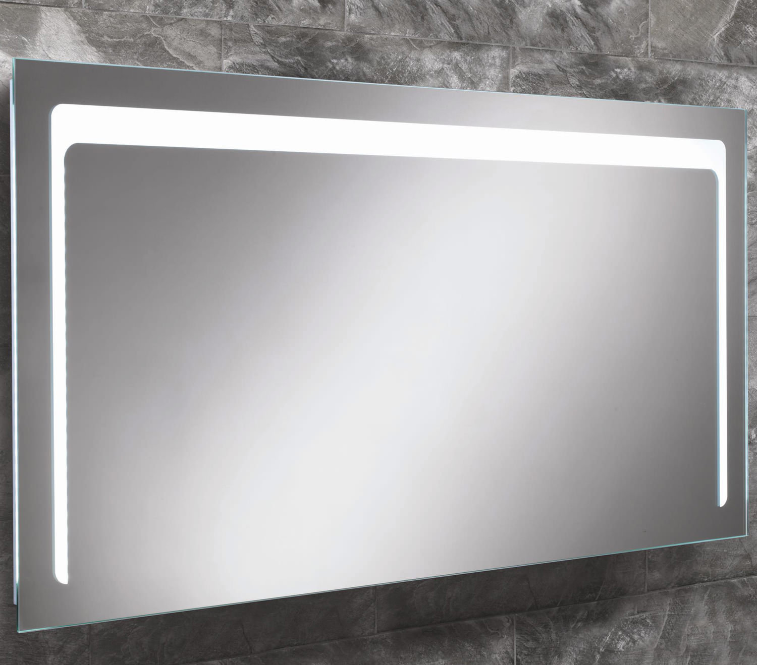Infinity bathroom mirror - Hib Christa Steam Free Led Back Lit Bathroom Mirror 1200 X 600mm