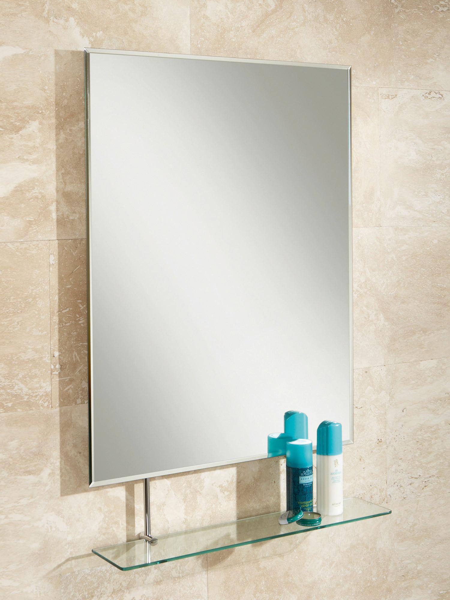 HIB Tapio Portrait Mirror With Glass Shelf 600 x 800mm