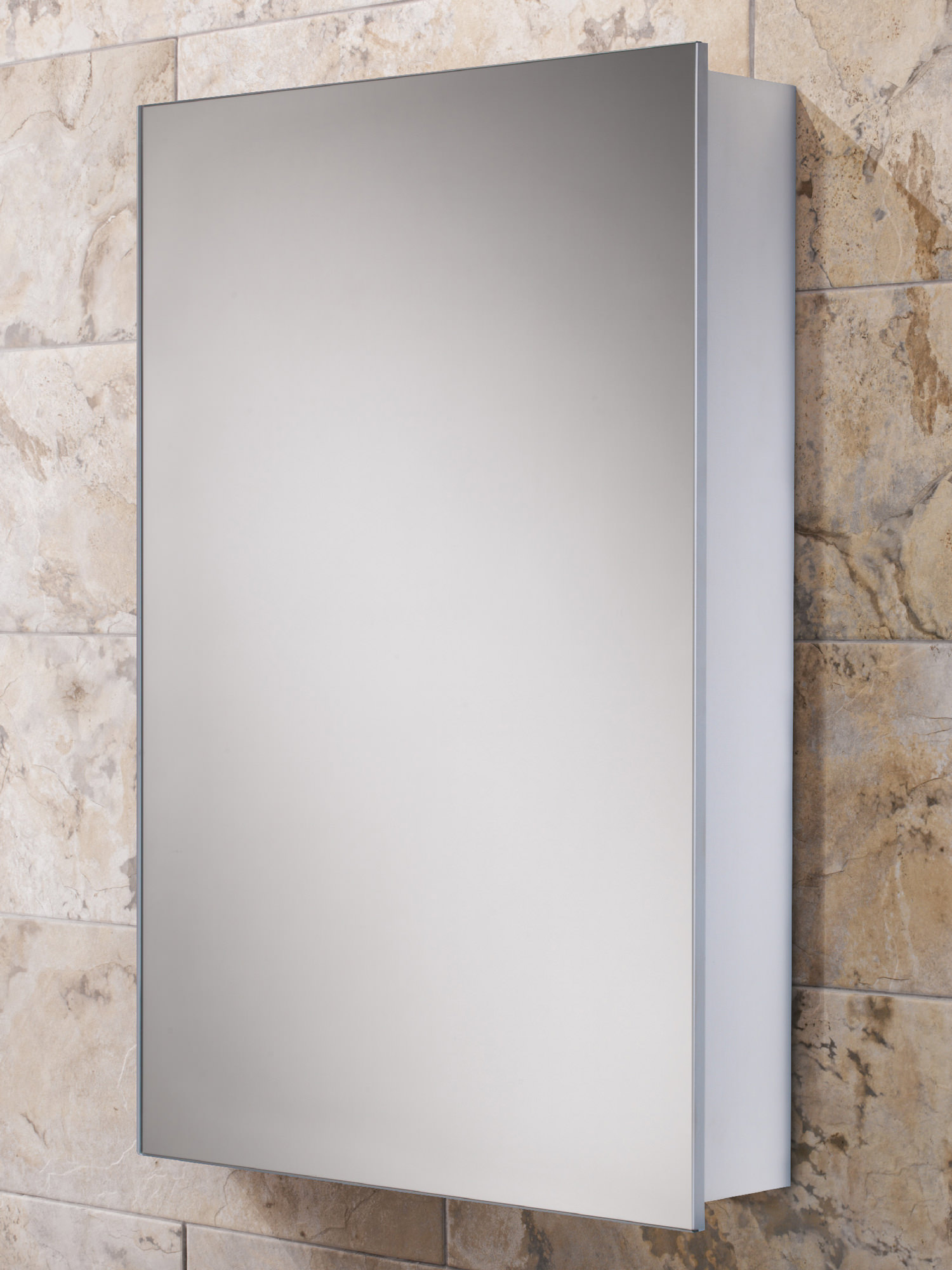 Hib callisto slim line aluminium bathroom cabinet 500 x 700mm for Slim mirrored bathroom cabinet