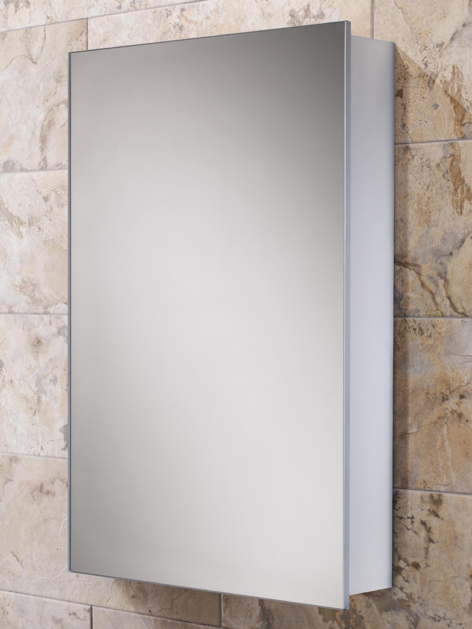Hib Callisto Slim Line Aluminium Bathroom Cabinet 500 X 700mm