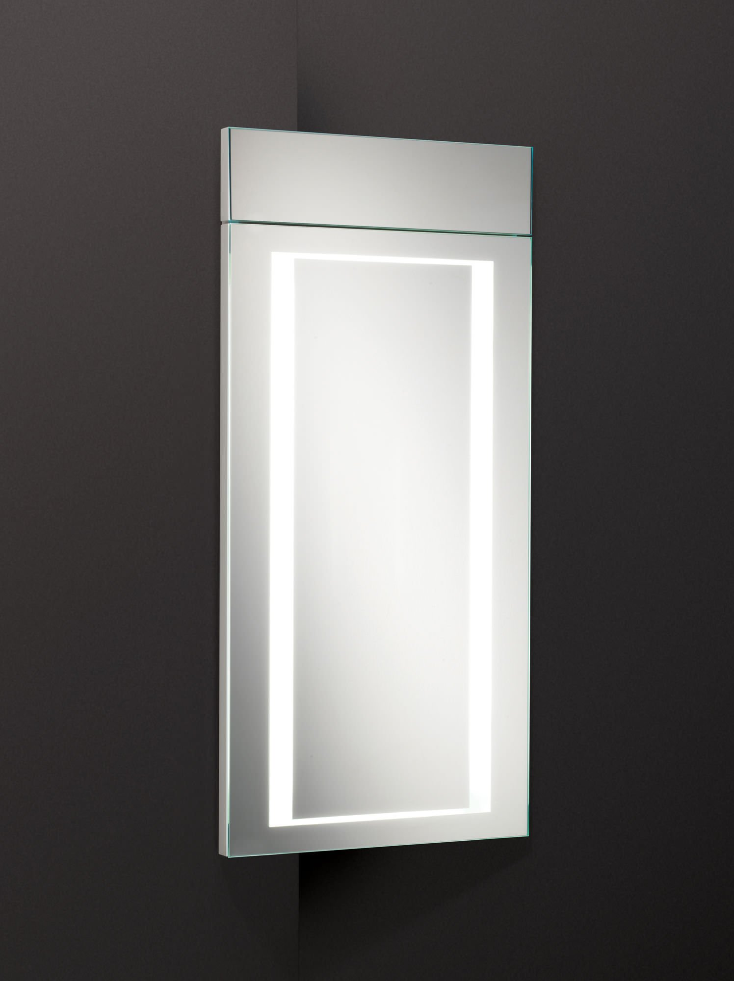 HIB Minnesota LED Illuminated Corner Bathroom Cabinet 300 x 630mm
