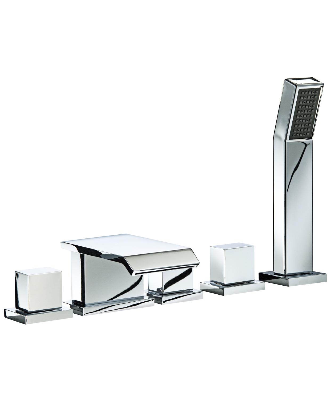 Mayfair Rio 5 Hole Bath Shower Mixer Tap Set With Shower Handset