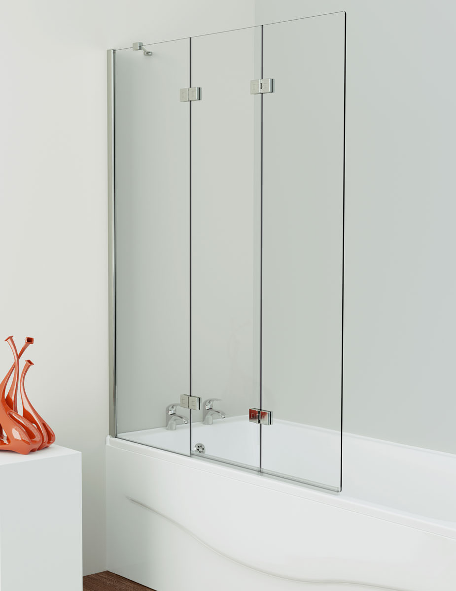 Kudos Inspire 3 Panel In Fold Bath Screen 1500 X 1250mm