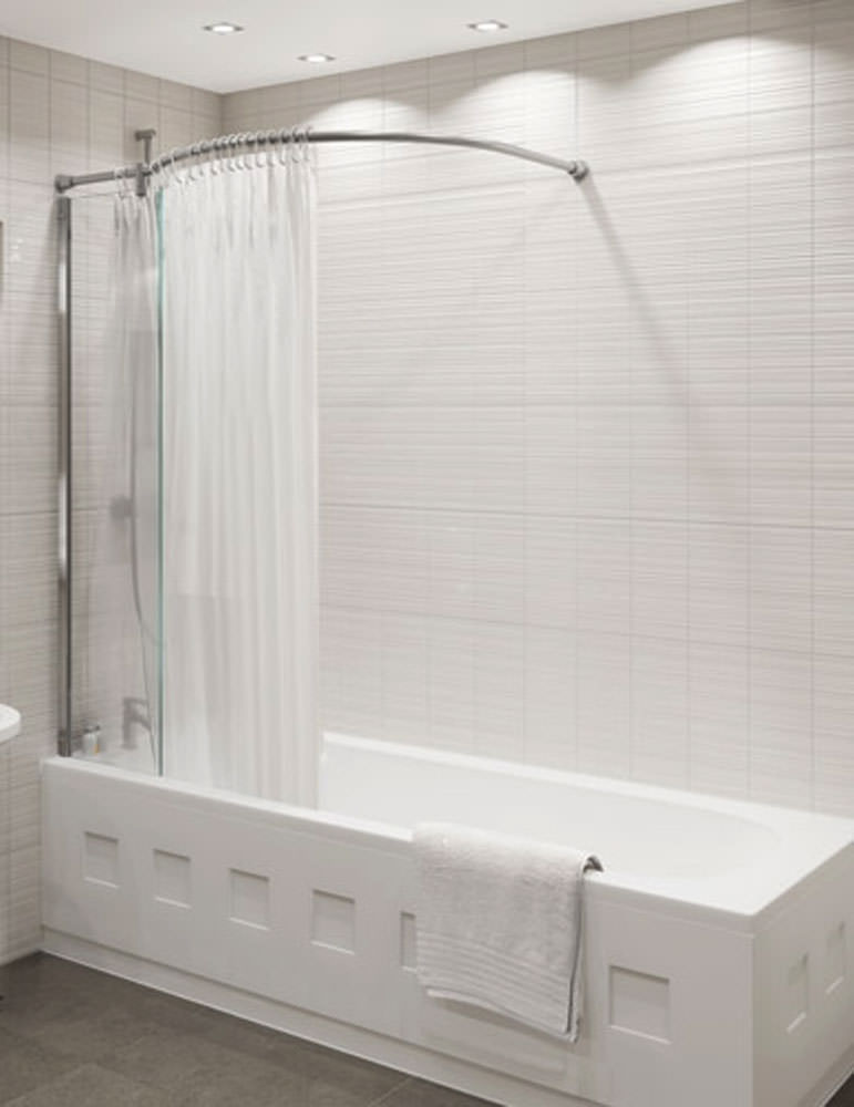 shower rails for corner baths