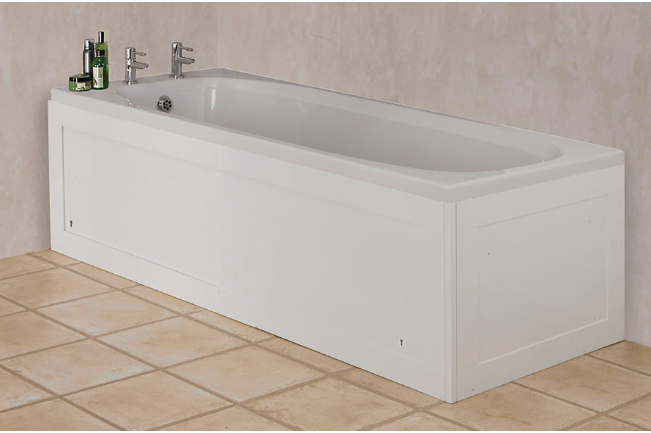 Croydex Unfold \'N\' Fit Gloss White Front Bath Panel