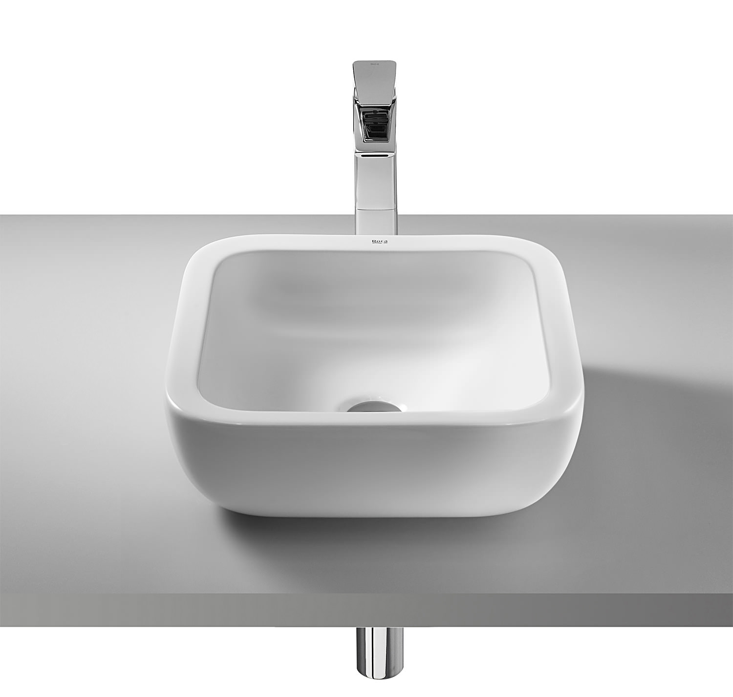 Roca Khroma 400 x 400mm Over Countertop Basin With No Taphole