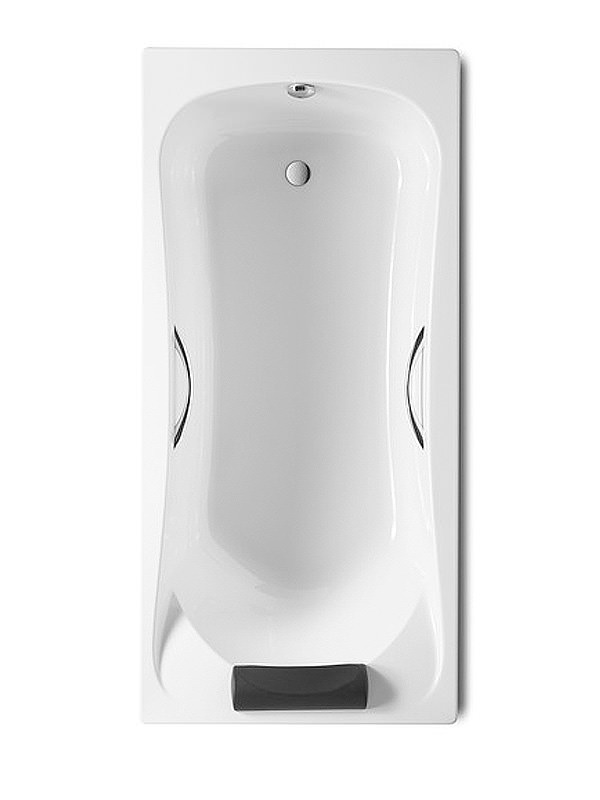 Becool 1800 x 800mm Acrylic Bath With Grips And Headrest