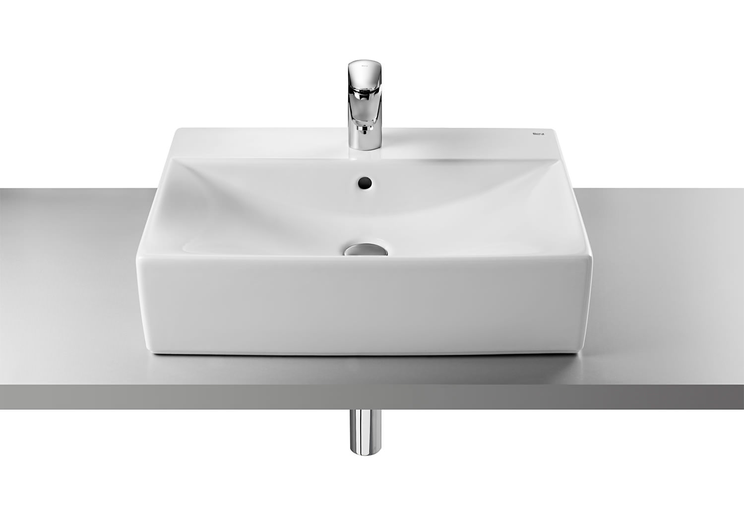 Roca Bathroom Accessories Diverta 600 X 440mm On Countertop Basin With 1 Taphole