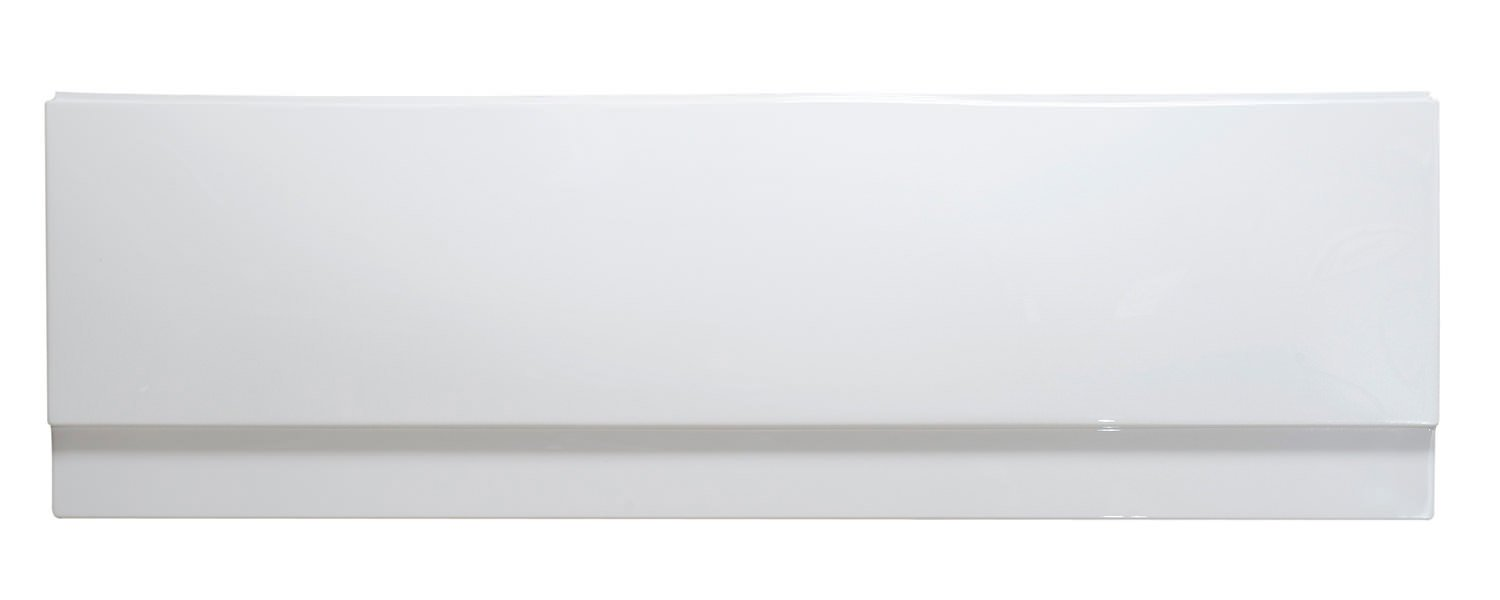 Reinforced Standard 1700mm Acrylic Front Bath Panel White