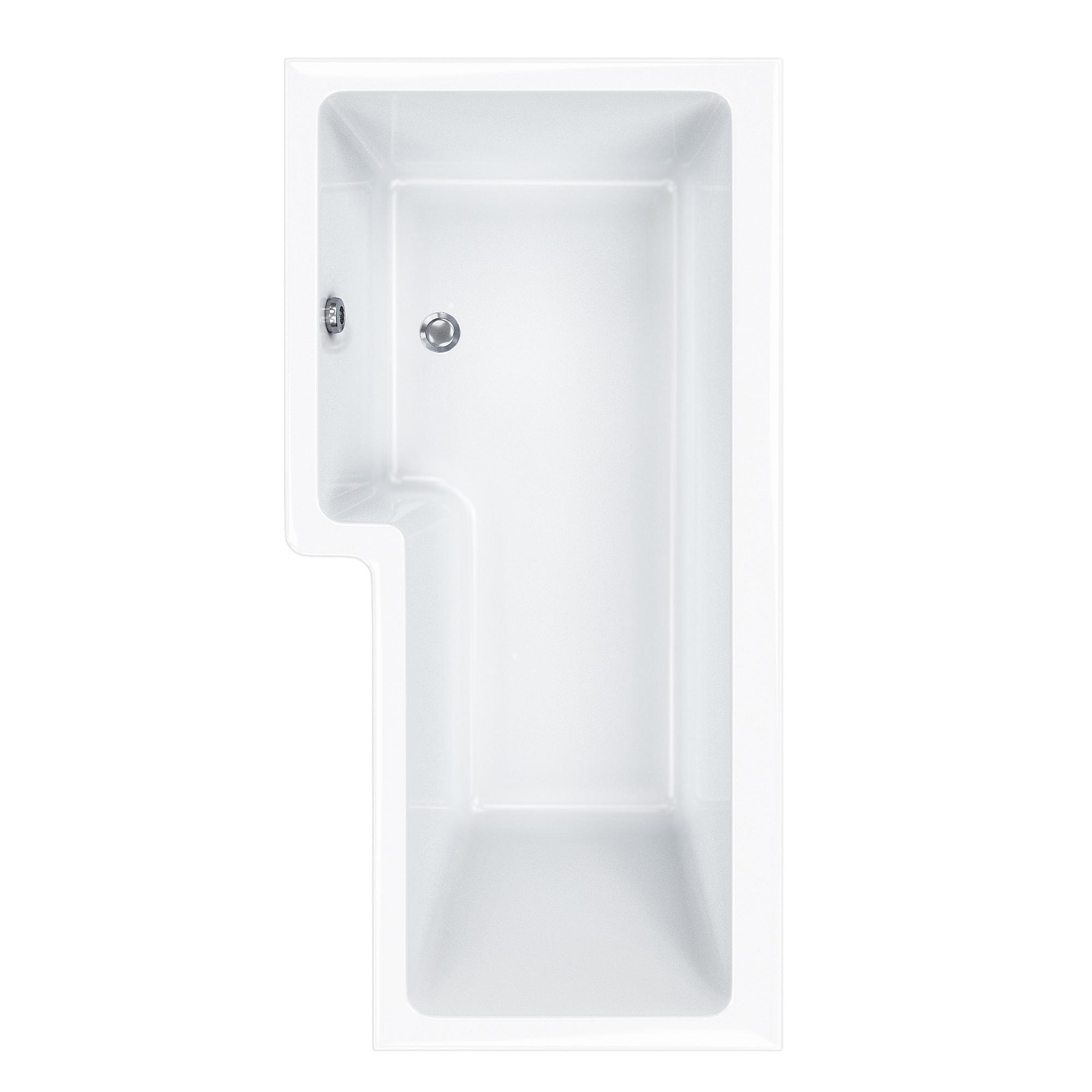 Carron Quantum 5mm Acrylic Square Shower Bath 1700 x 850mm LH