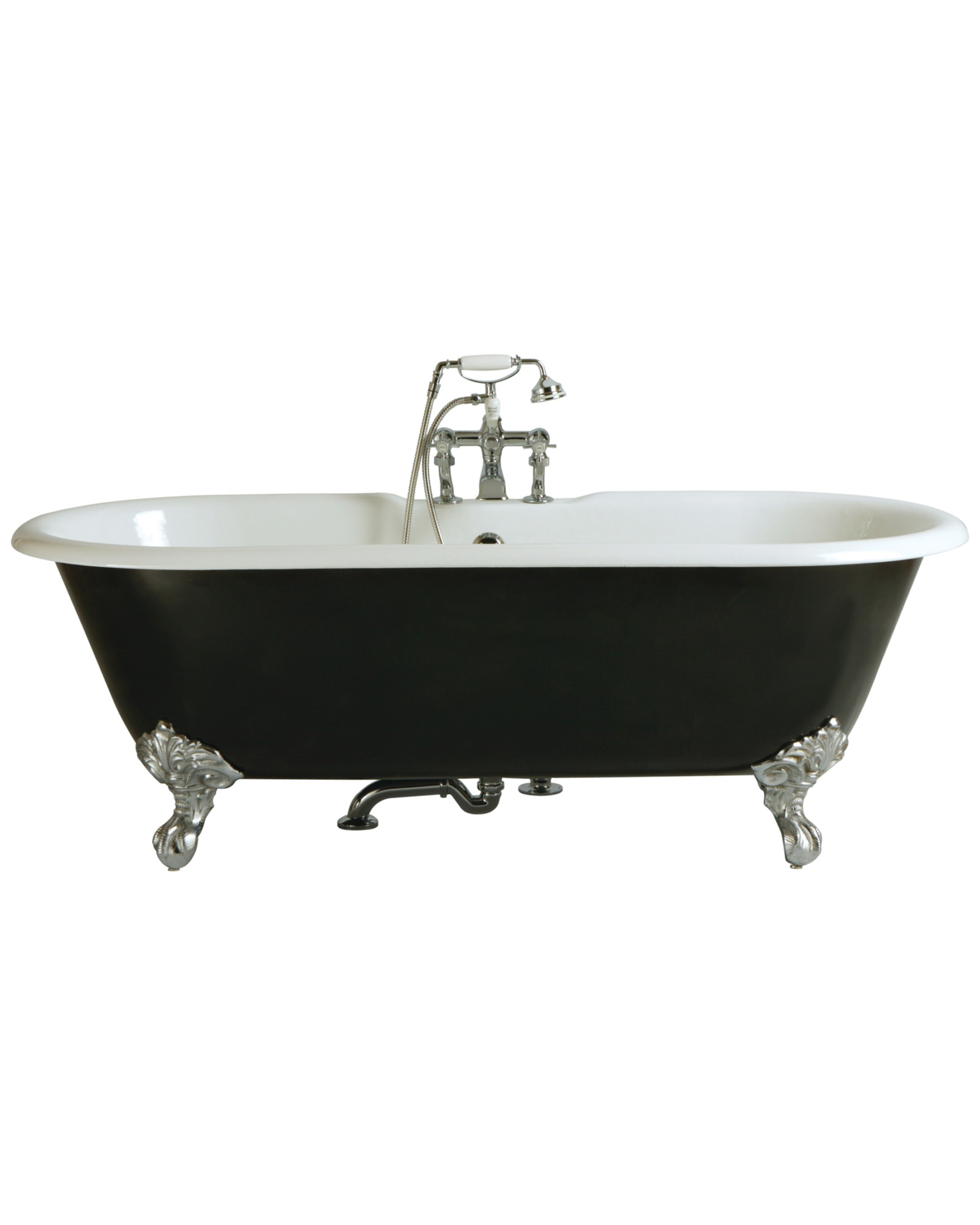 Buckingham 2 Taphole Cast Iron Bath With Feet 1700x770mm