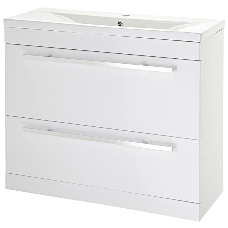 Lauren eden 1000mm door and drawer floor standing basin for Kitchen cabinets 1000mm