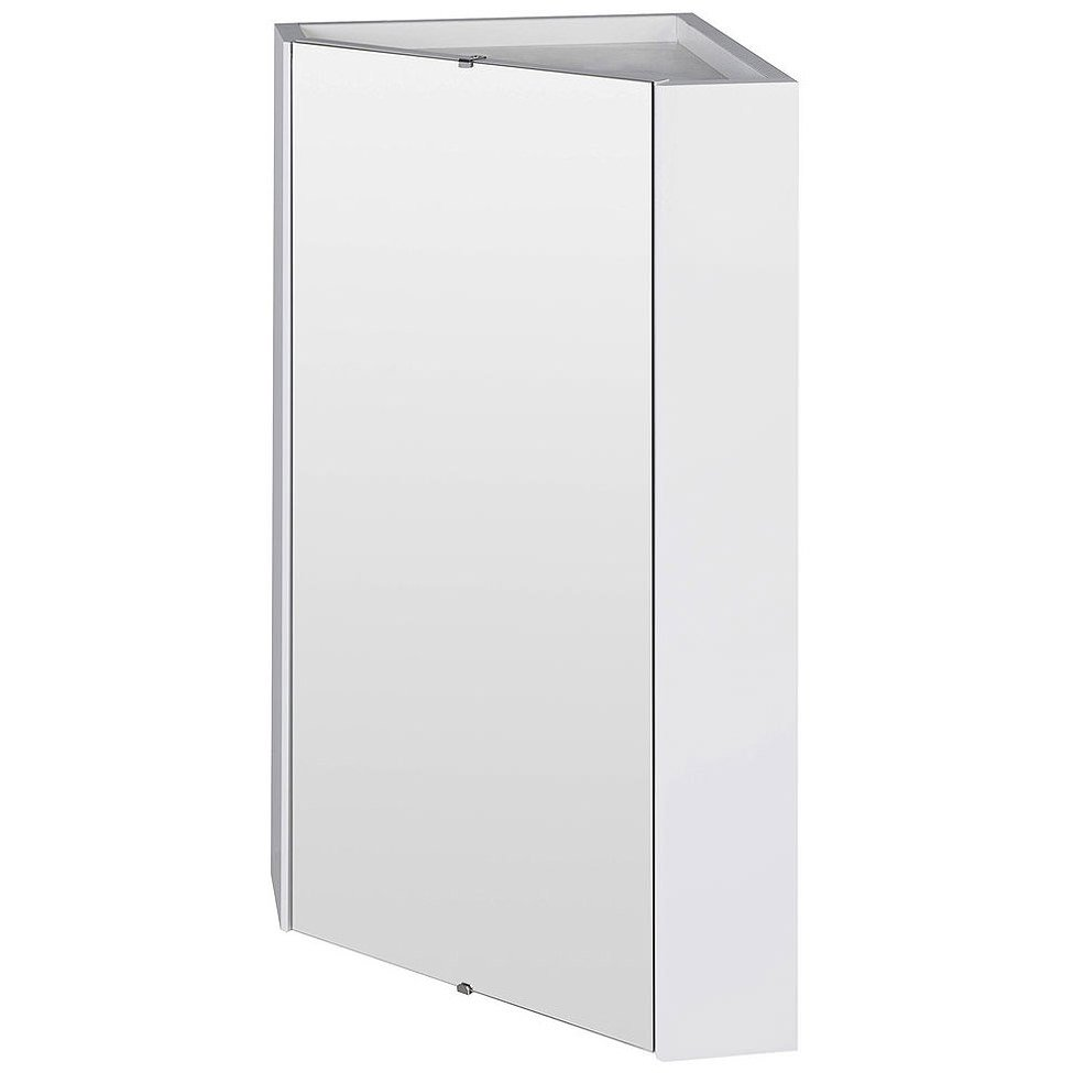 Nuie Premier Mayford High Gloss White 459mm Corner Mirror Cabinet