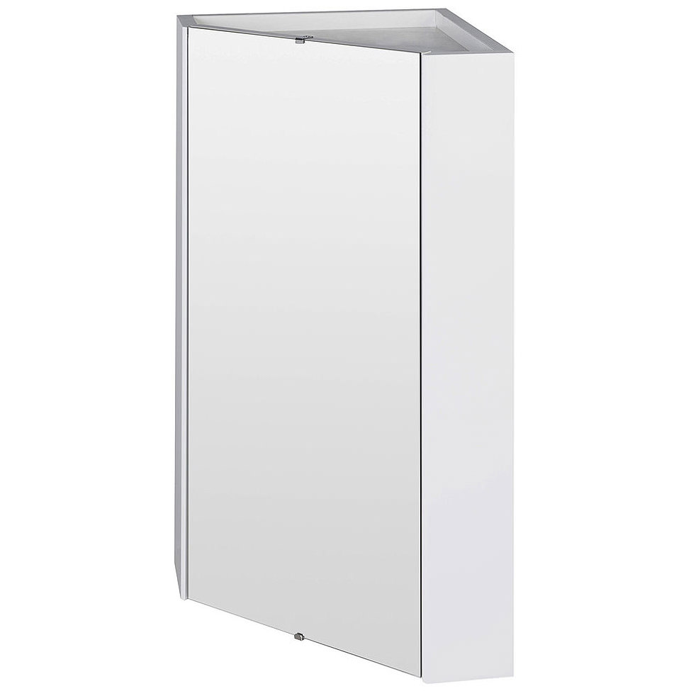 white gloss corner bathroom wall cabinet mayford high gloss white 459mm corner mirror cabinet 25887