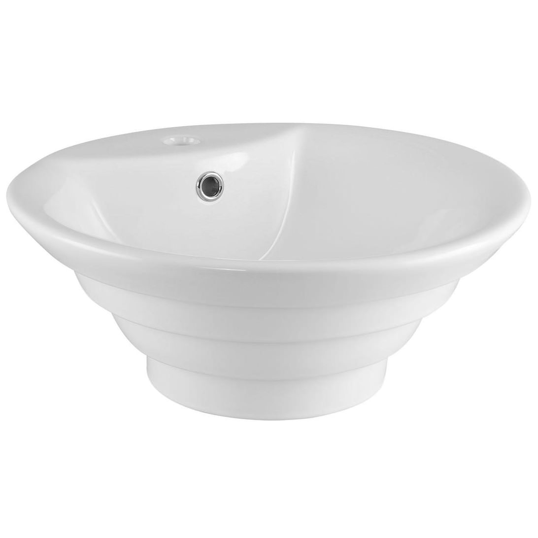 Round Counter Top: Premier 460mm Round Counter Top Vessel Basin With Overflow