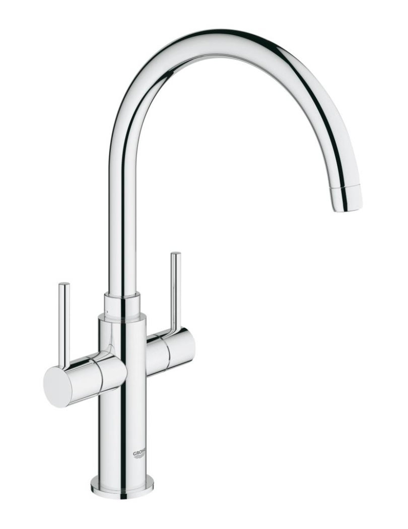 Ambi Cosmopolitan Two Lever Sink Mixer Tap With Swivel Spout