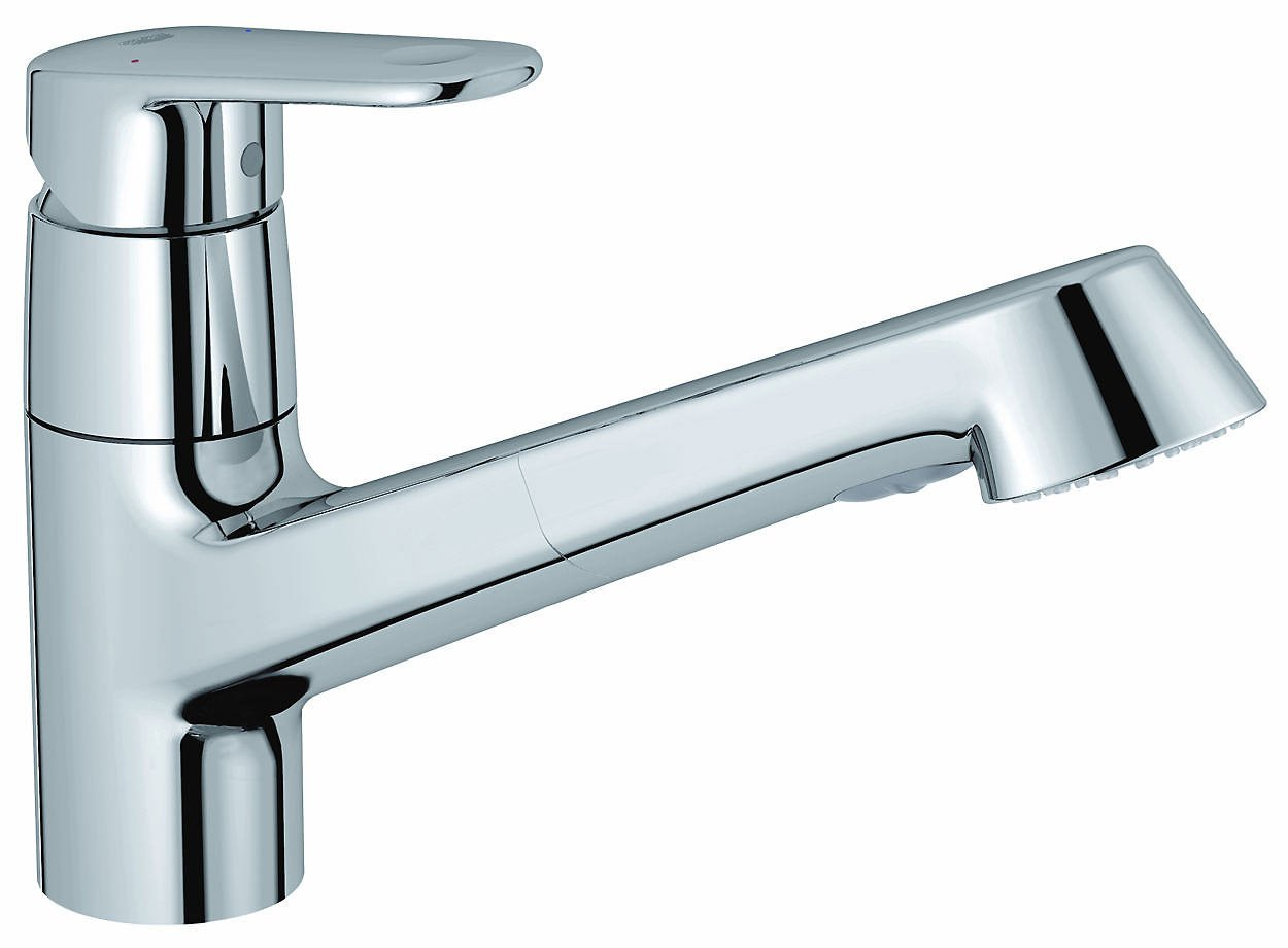 Grohe Europlus Low Spout Sink Mixer Tap With Pull Out
