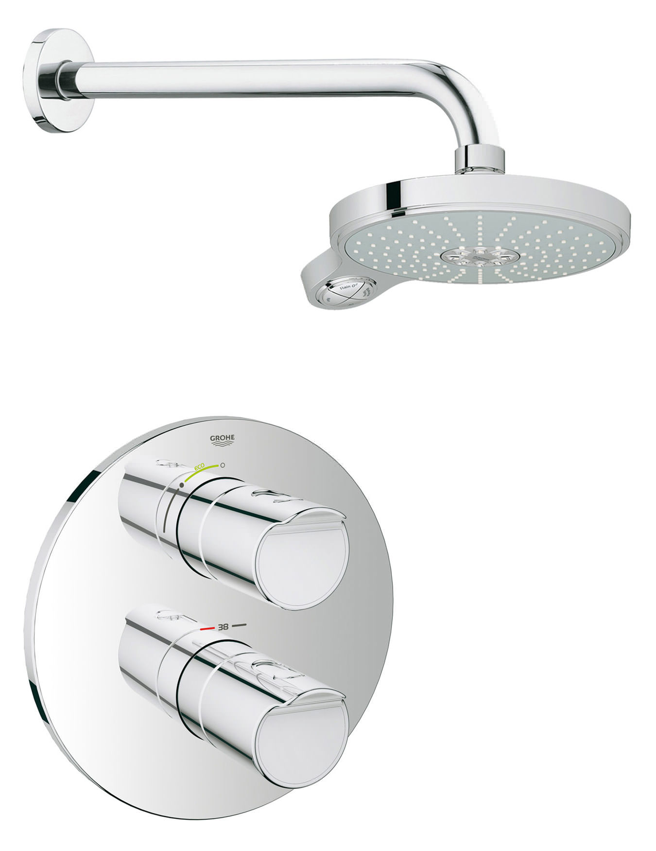 Erstaunlich Grohtherm 2000 NEW Plus Power And Soul Shower Solution Pack 2 ED26
