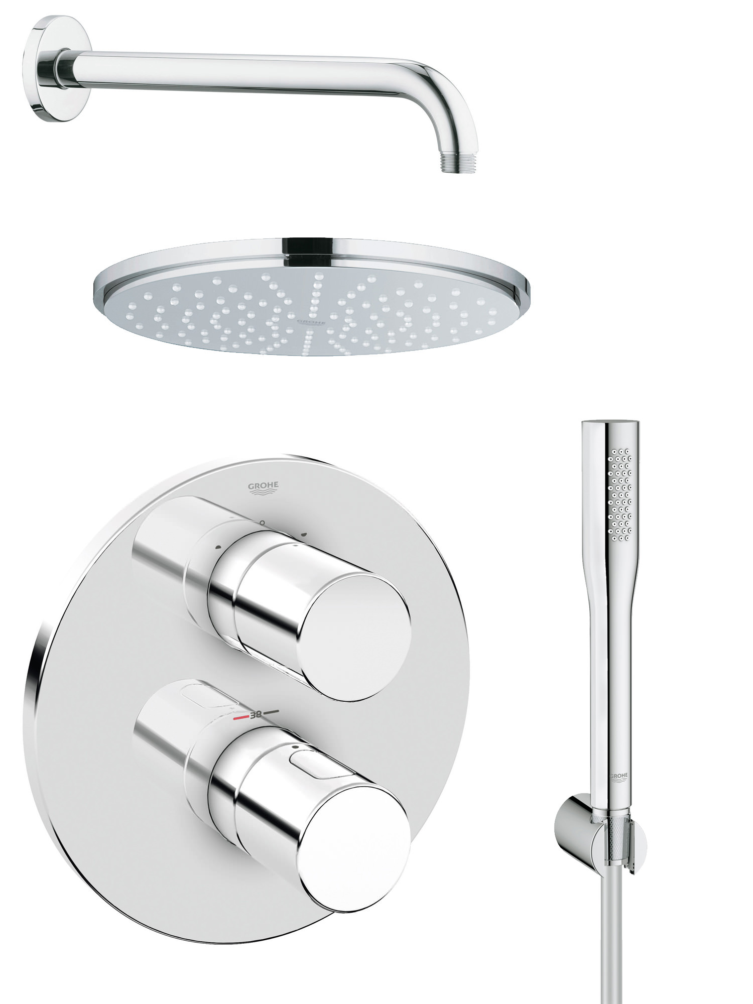 system solutions product shower euphoria bathroom uk grohe round