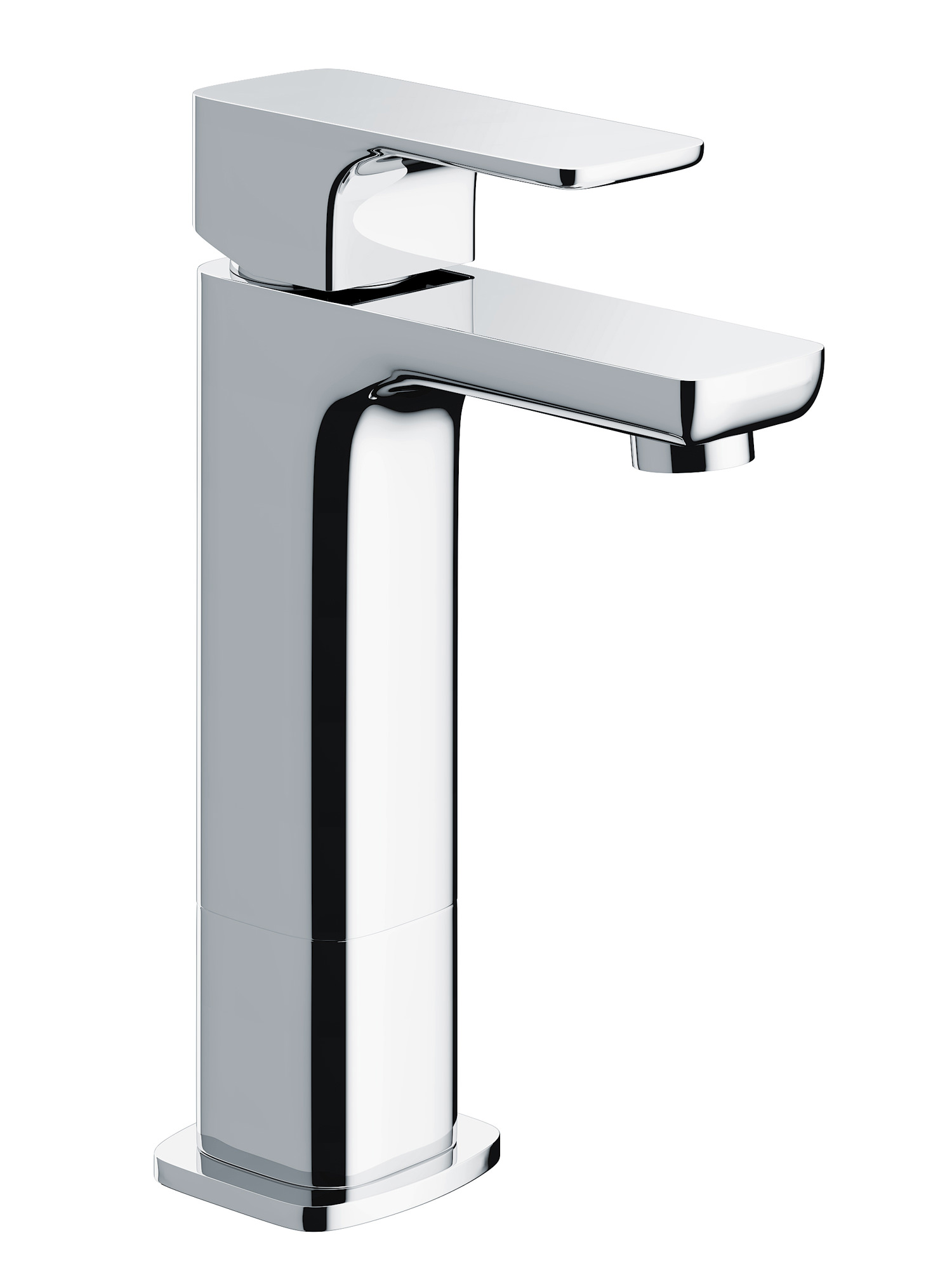 Pura Flite Medium Single Lever Chrome Basin Mixer Tap With Waste