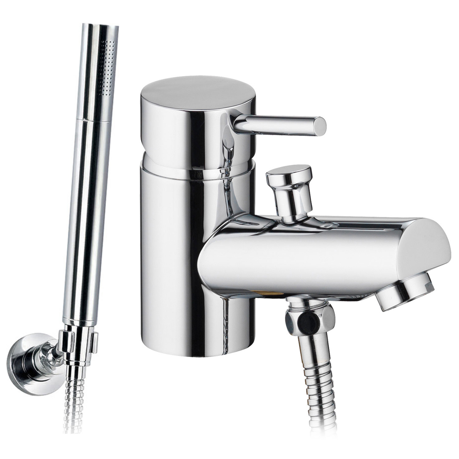 Pura Xcite Deck Mounted Mono Bath Shower Mixer Tap With Kit
