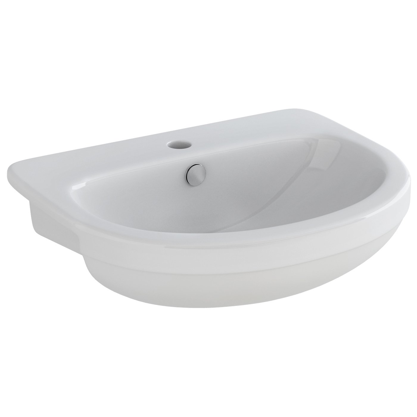 Pura Ivo 1 Tap Hole 550mm Semi Countertop Basin