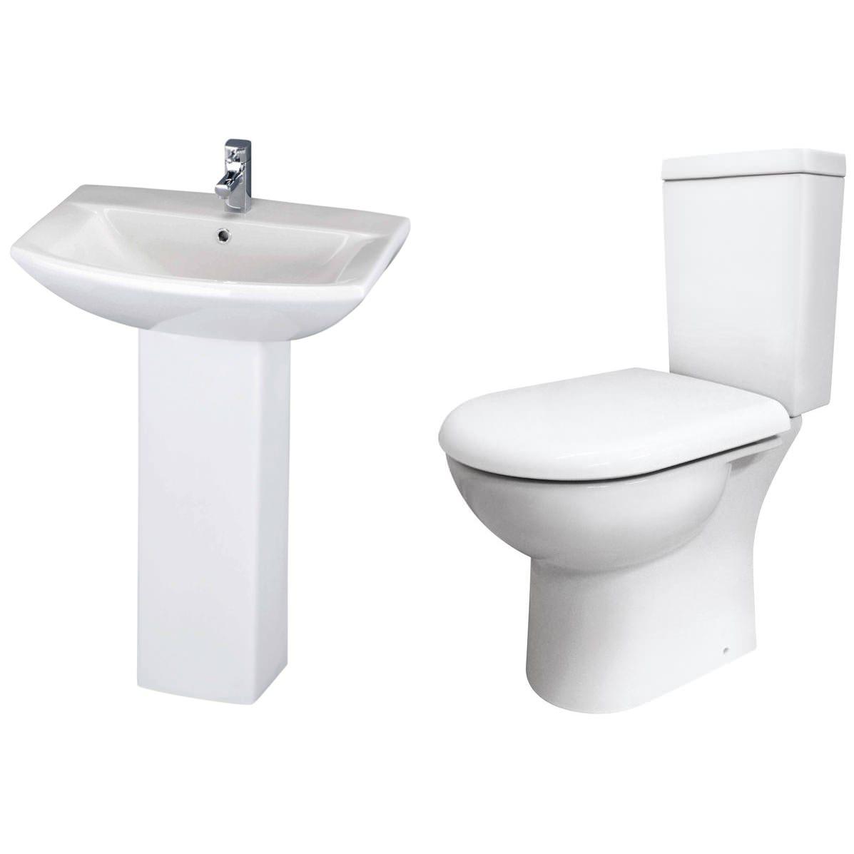 lauren knedlington basin and toilet set ForWashroom Set