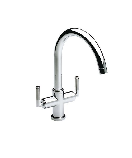 Roca Loft Elite Kitchen Sink Mixer Tap With High Swivel Spout And ...