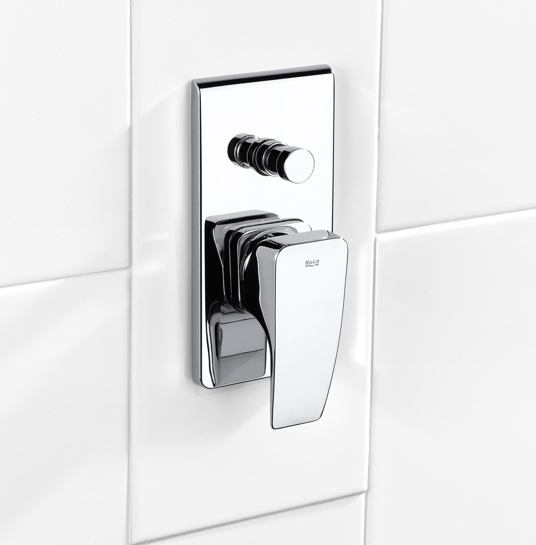 roca thesis chrome bath shower mixer valve with diverter roca thesis built in bath shower mixer valve