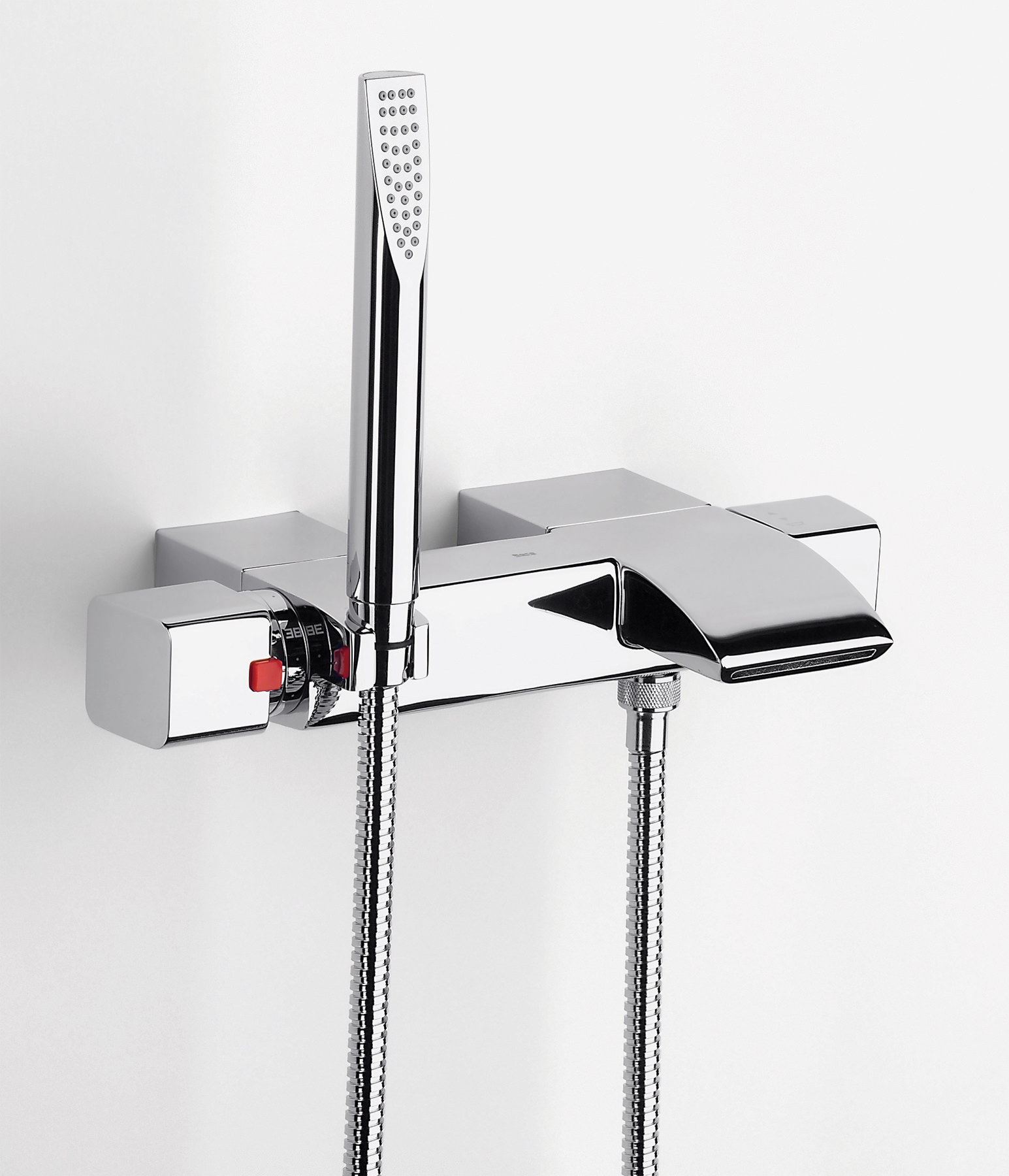 roca thesis t wall mounted bath shower mixer tap with kit roca thesis t thermostatic bath shower mixer with kit