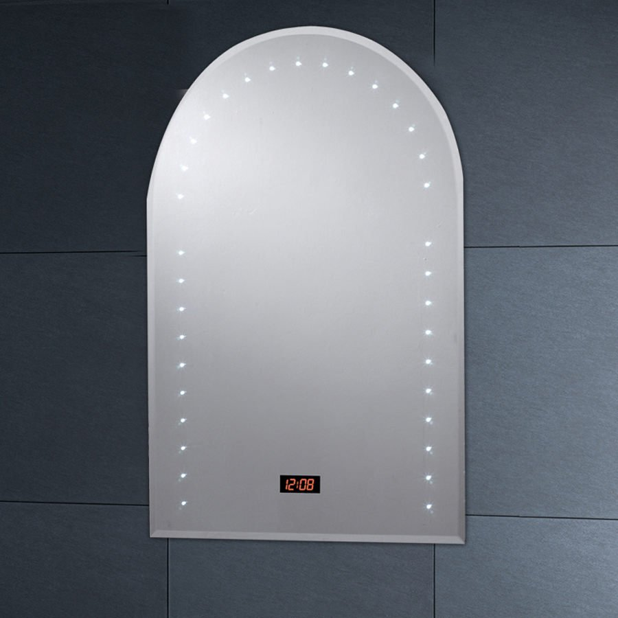 Phoenix Arched Top LED Mirror 600mm With Demister Pad
