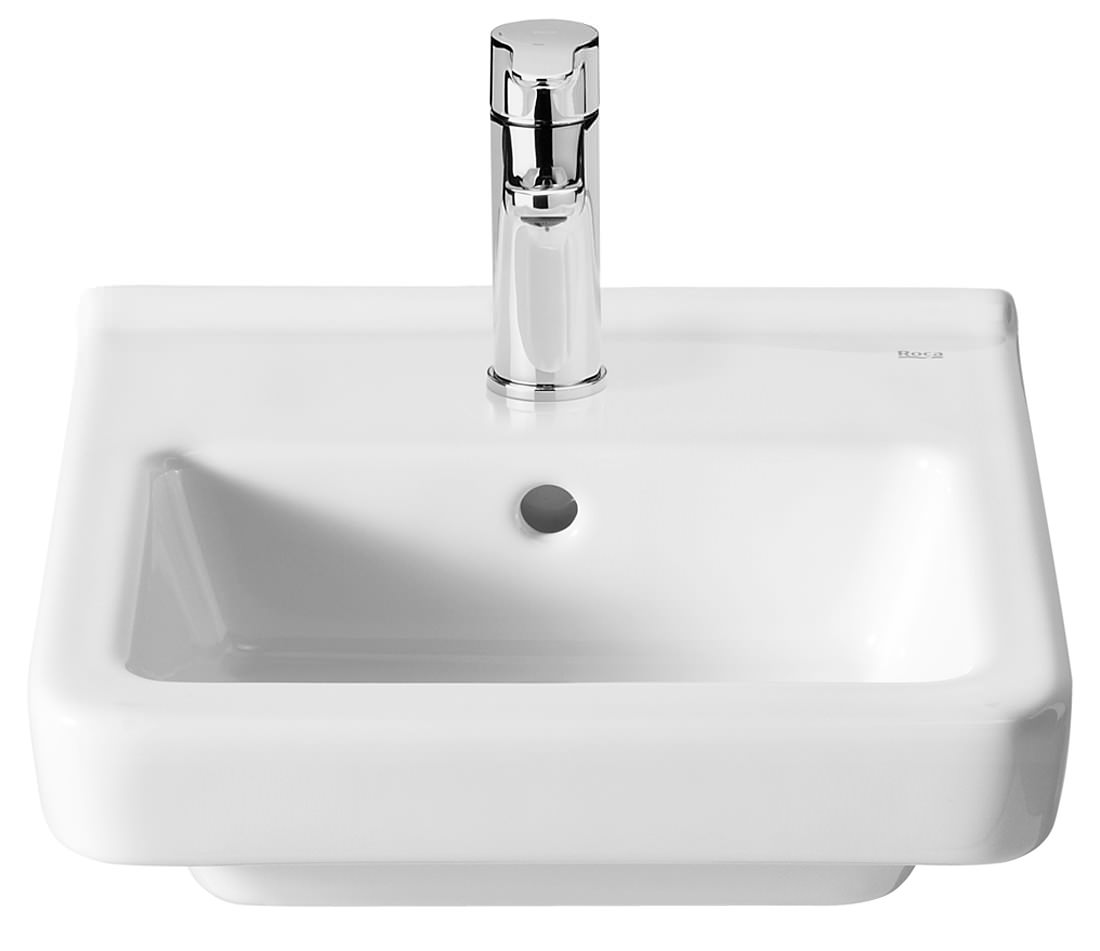 Roca Dama-N 350 x 320mm Compact Wall Hung Basin With 1 Tap Hole