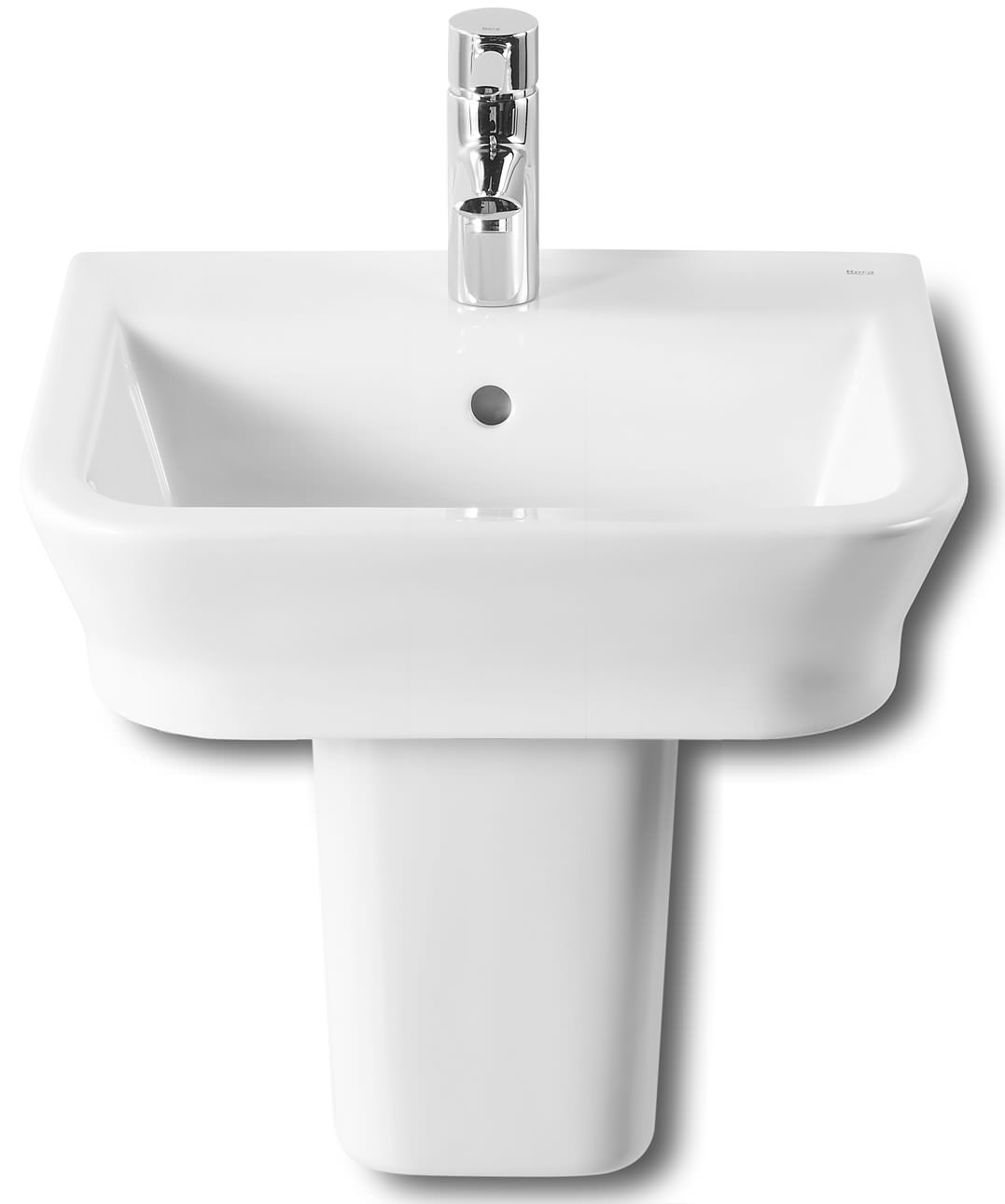 roca bathroom sinks roca the gap 450 x 420mm wall hung basin with no tap 14235