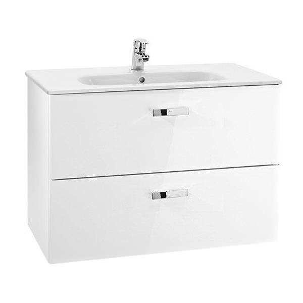 Roca victoria basic unik basin and furniture 800mm gloss for Roca vitoria