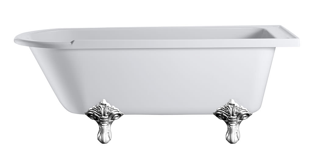 Burlington hampton freestanding bath with chrome traditional legs Traditional bathroom accessories chrome