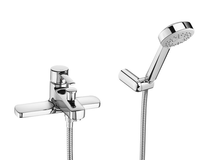 Roca Targa Deck Mounted Bath Shower Mixer Tap With Kit