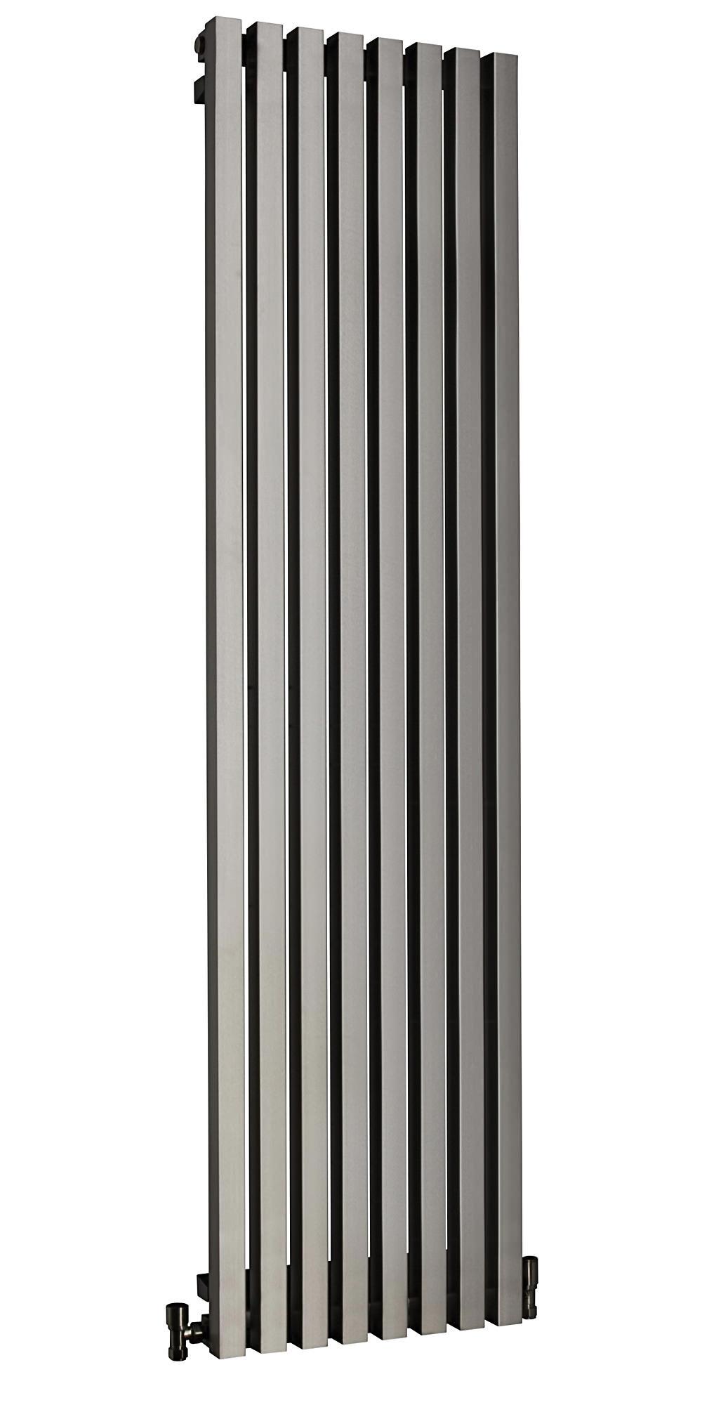 Dq Heating Dune Brushed Stainless Steel Radiator 280 X 1600mm