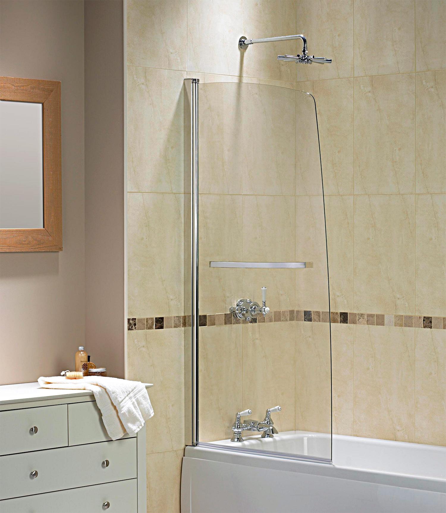 Aqualux Aqua 5 Half Frame Bath Screen 800 x 1500mm