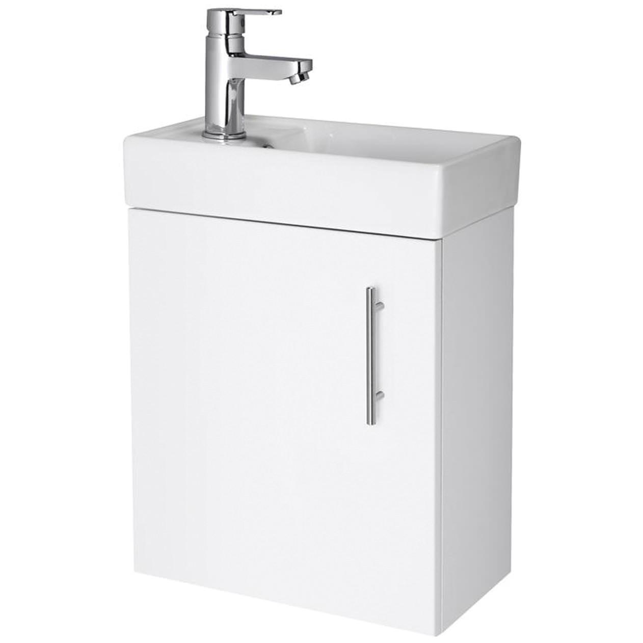 Minimalist gloss white vanity unit 600 800 or 1000mm - More Info Lauren Nvx182