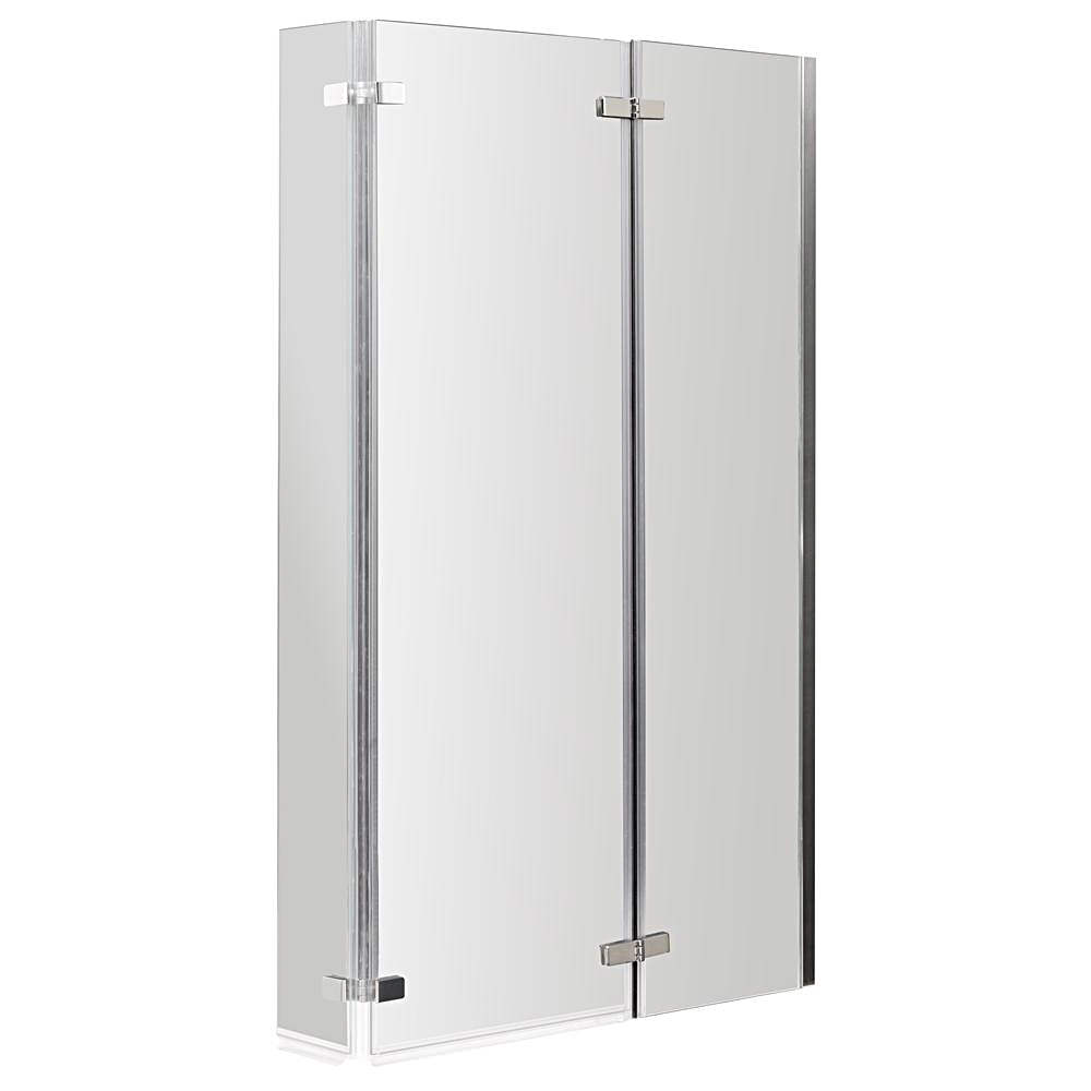 Lauren Ella 800 810 X 1400mm Square Hinged Bath Screen