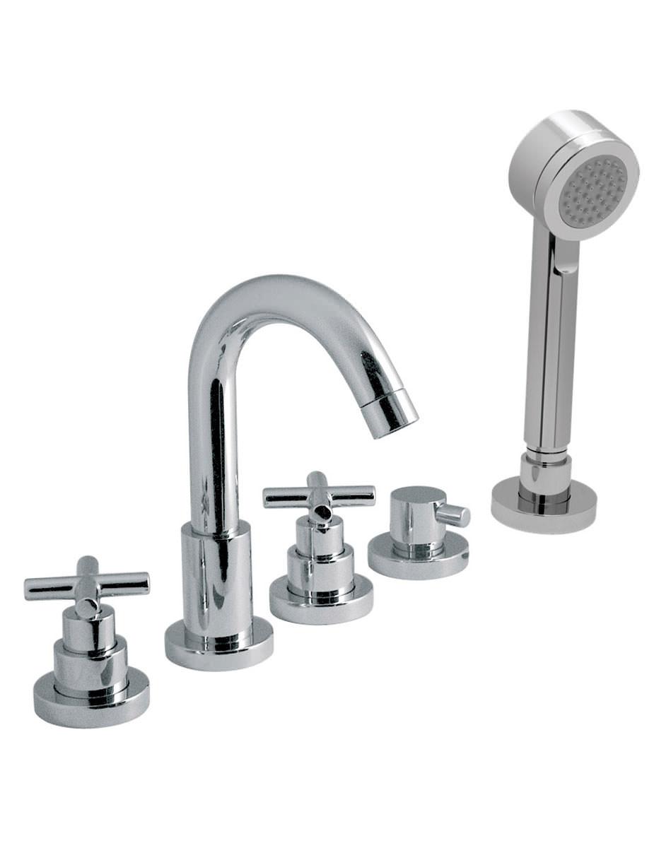 vado elements water 5 hole bath shower mixer tap with kit vado elements water deck mounted 5 hole bath shower mixer tap with kit