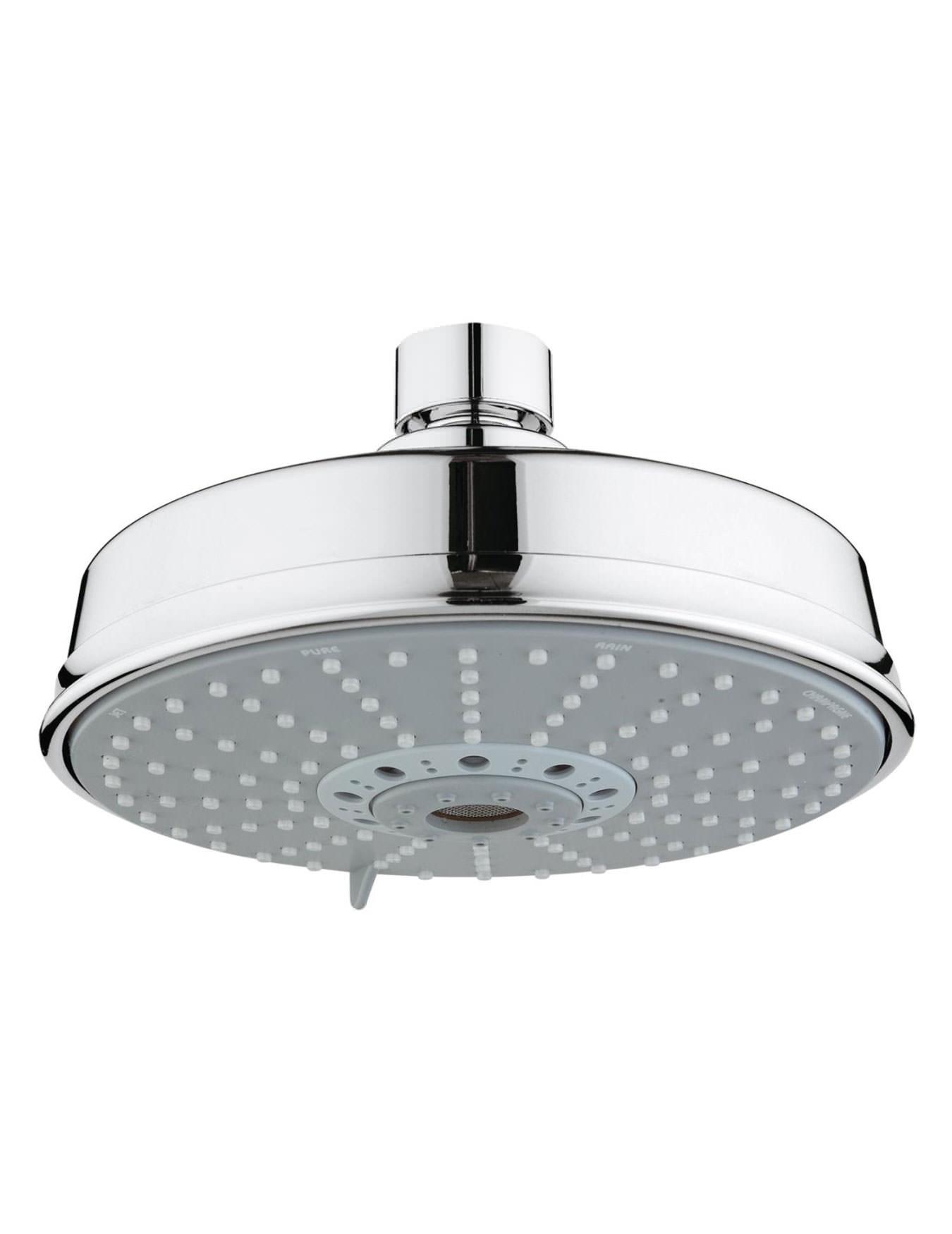 grohe rainshower rustic 160 four spray shower head chrome. Black Bedroom Furniture Sets. Home Design Ideas