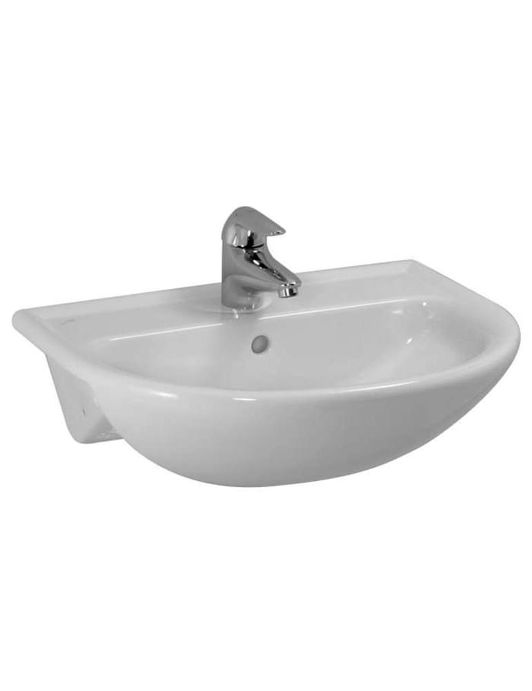 laufen pro b semi recessed washbasin 560 x 440mm with 1 tap hole. Black Bedroom Furniture Sets. Home Design Ideas